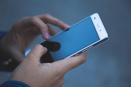 illustratieve foto van mobiele telefoon